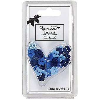 Docrafts-kapselikokoelma – Minipainikkeet – sininen
