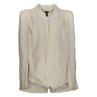 G.I.L.I. Got It Love It Women's Blazer Cape Blazer W/ Pocket Ivory A286999