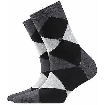 Burlington Bonnie Socks - Anthracite/Black/White