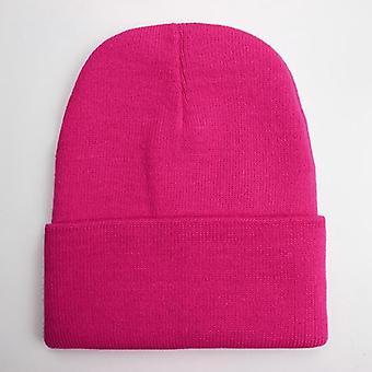 Autumn/winter Wool Blends Soft Warm Knitted Cap