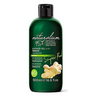 Shower Gel Super Food Ginger Toning Naturalium (500 ml)