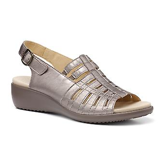 Hotter Women's Rosella Extra Wide Fit Buckle Fastening Wedge Sandals