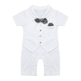 Infant Baby Boys Gentleman Jednodílný bavlněný krátký rukáv 18-24 měsíců