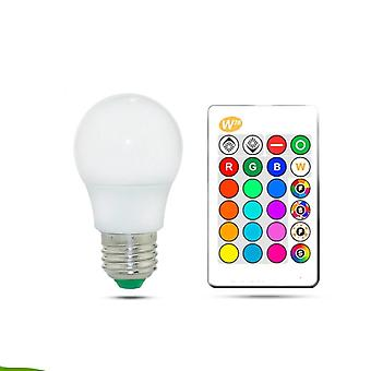 Rgb Led Bulb Lights- Colorful Led Lamp With Ir Remote Control+memory Mode