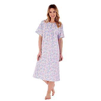 Slenderella ND77132 Women's Floral Cotton Nightdress