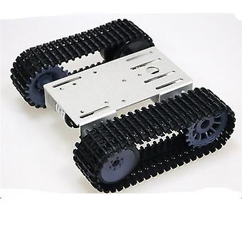 Akıllı Paletli Robot Tankı- 12v Dc Motorlu Şasi Kiti, Alüminyum Alaşımlı Panel