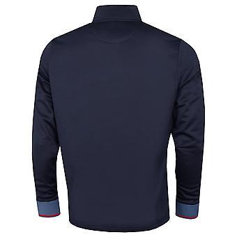 Original Penguin Mens 2021 1/4 Zip Mock Neck Layering Logo Golf Sweater