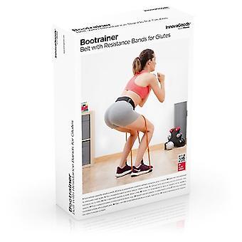 InnovaGoods Bootrainer Cinturón Bandas Resistencia glúteos+Guía ejercicios