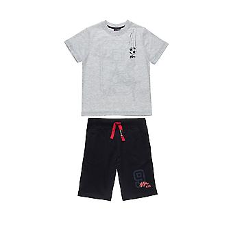 Alouette Boys' Blouse Set With Embossed Print And Shorts With Lace