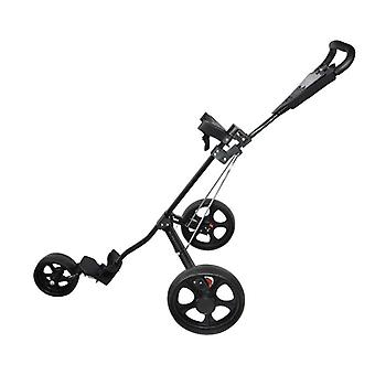 Golf Push Cart, Lätt, 3 hjul, Club Push, Pull Trolley