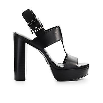 Sandale de plate-forme noire de Michael Kors Becker