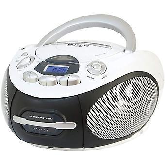HanFei AH 2387R MP3 USB - Tragbare Boombox mit CD/MP3-Player, USB-Eingang, Kassettenrekorder,