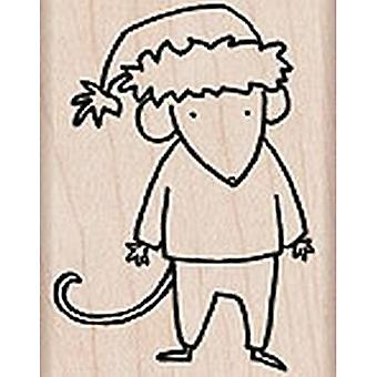 Hero Arts Santa Mouse Rubber Stamp