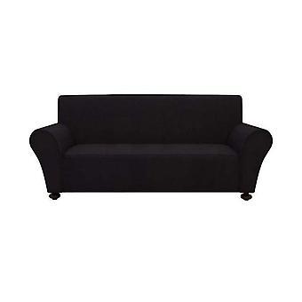 3-paikkainen joustava sohva slipcover polyesteri jersey musta
