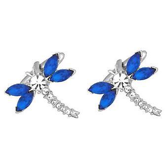 Zennor Dragonfly Cufflinks - Sininen/Hopea