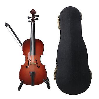 Resin Cello Model with Stand Musical Replica Ornaments Birthday Gift