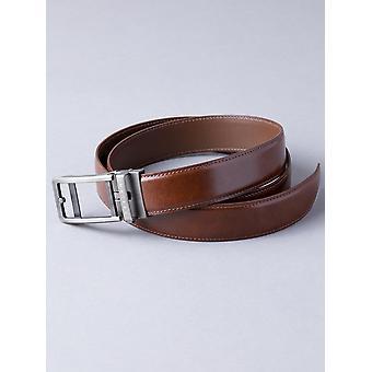 Men's Cintura in pelle Ratchet in marrone