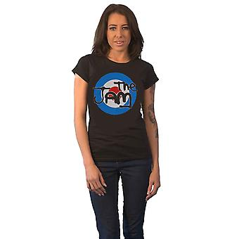 The Jam T Shirt Spray Target Band Logo new Official Womens Skinny Fit Black