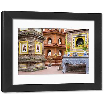 Tran Quoc Pagoda (Chua Tran Quoc), Tay Ho District, Hanoi, Vietnam, Indochina,. Framed Photo. Tran.