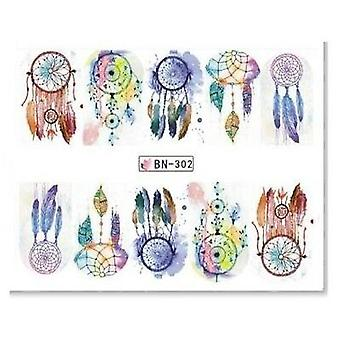 Vand klistermærker - Dream fangere - BN-302 - For negle