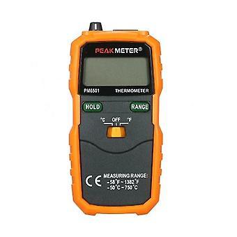 PEAKMETER PM6501 LCD-näyttö Langaton K-tyypin lämpötilamittari Lämpöpari W/Data Hold/Logging Digitaalinen lämpömittari