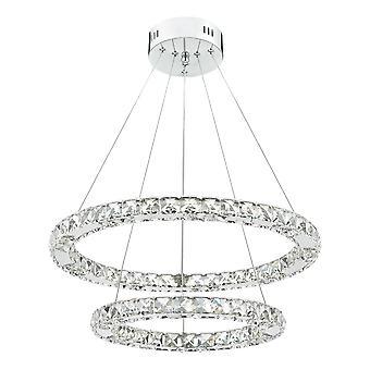DAR ROMA LED anheng lys krystall med krom dimmbar