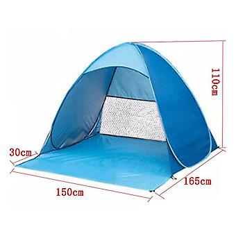 Portable Automatic Pop Up Beach Canopy Sun UV Shade Shelter Outdoor Camping Tent Outdoor (blue)