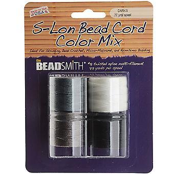 Super-Lon (S-Lon) Cord - Basic Mix - Fire 77 Yard Spoler / Størrelse 18 Cord
