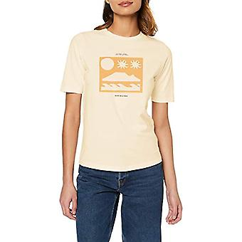 Scotch & Soda Ams Blauw Easy Tee with Various Artworks T-Shirt, Light Apricot 3598, M Woman