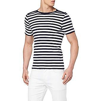Armor Lux Carantec T-Shirt, Multicolored (Navire/Blanc 600), Small Man