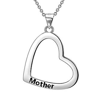 Besilver - Sterling 925 Silver Matching Necklace Set with Heart-Shaped Pendant for Mom and Daughter and Silver Plated, Ref. 8431228533667