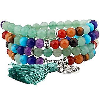 KYEYGWO 108 - Bracelet with Mala prayer pearls for men and women, 6 mm, with Tibetan Buddhist healing stone, unisex Ref. 0635946998915