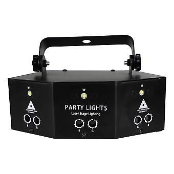 9-eye Rgb Disco Dj Lamp Dmx Controle Remoto Strobe Stage Light