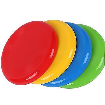 2Pcs 27cm الأصفر الأطفال الألعاب الرياضية في الهواء الطلق صديقة للبيئة البلاستيك ألعاب الكلب الحيوانات الأليفة سميكة جولة الصحن الطائر az18820