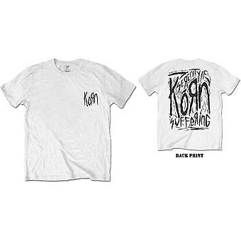 Korn - Scratched Type Men's X-Large T-Shirt - White