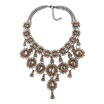 Women Necklace Multilayered Flower Tassel Luxury Gem  Alloy For Daily Use
