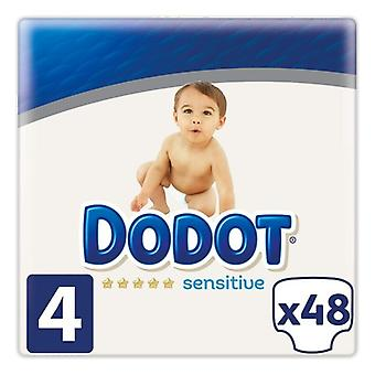 Disposable nappies Sensitive Dodot Size 4 (48 uds)