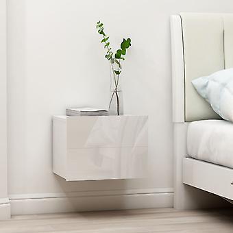 vidaXL Tables de chevet 2 pcs. Blanc brillant 40 x 30 x 30 cm Panneau de particules