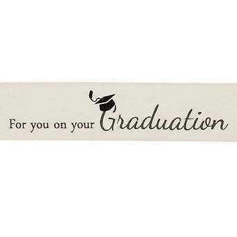 LAST FEW - 20m Ivory 25mm Wide Graduation Printed Ribbon for Crafts