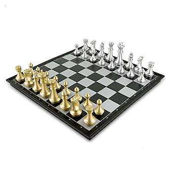 25252cm magneettiset shakki kannettava kansainvälinen shakkisarja taittuva shakki lapset lahja