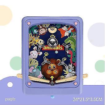 Creative Children's Pinball Game Cartoon Handheld Game Machine Maze Ejection Score Machine(Purple)