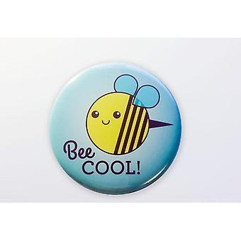 نحلة بارد المغناطيس، زر Pinback، أو مرآة الجيب