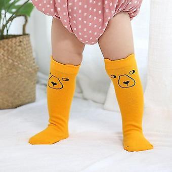 Süße Baby kleine Neugeborene gestrickte Baumwolle Mischung Knie Cartoon Socke