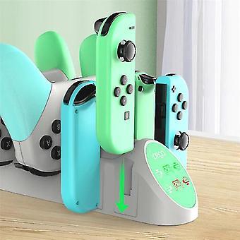 Game Controller Charger Charging Dock Állomástartó Nintendo Switch Controlhoz (fehér)