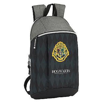 Casual Backpack Hogwarts Harry Potter Black Grey