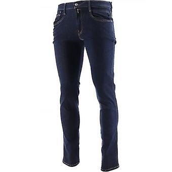 Replay Blue Slim Fit Hyperflex Re-Used Anbass Jean