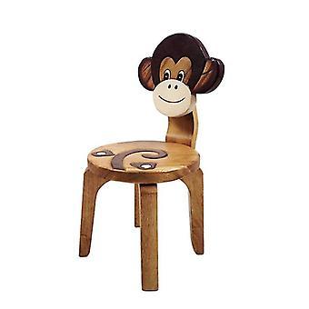 أطفال خشبي كرسي القرد