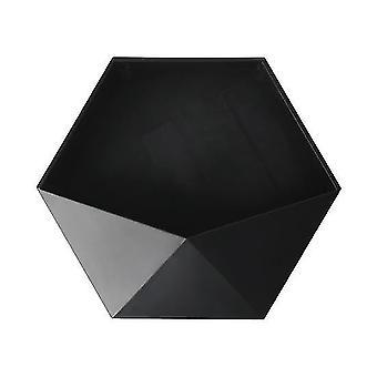 Étagères murales hexagonales géométriques sans poinçon de style nordique (noir)