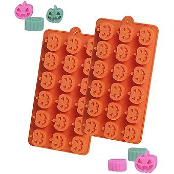1 Pack Pumpkin Silicone Moulds 18 Cavity Chocolate Mould Pumpkin Silicon Cake