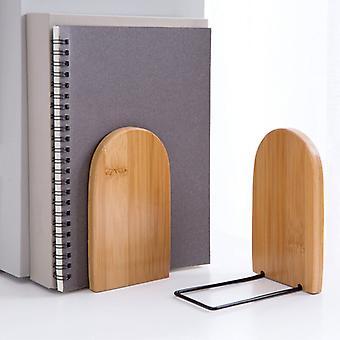 Organisateur De Bureau En Bambou Naturel, Organisateur De Livre, Serre-livres, Serre-livres, Tagre, Accessoires De Bureau